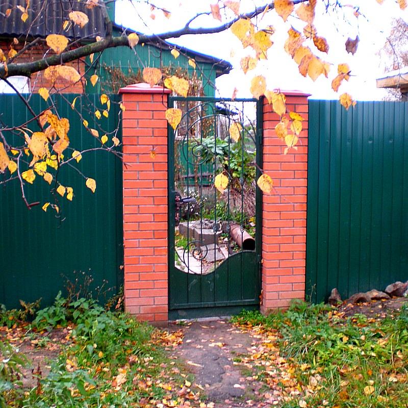 Ворота для садового участка своими руками 49