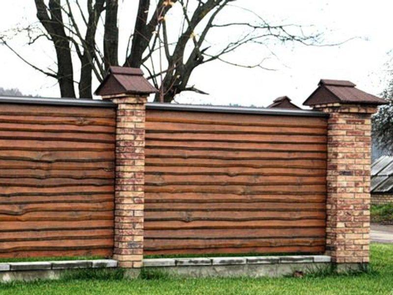 Забор с необрезной доски своими руками фото