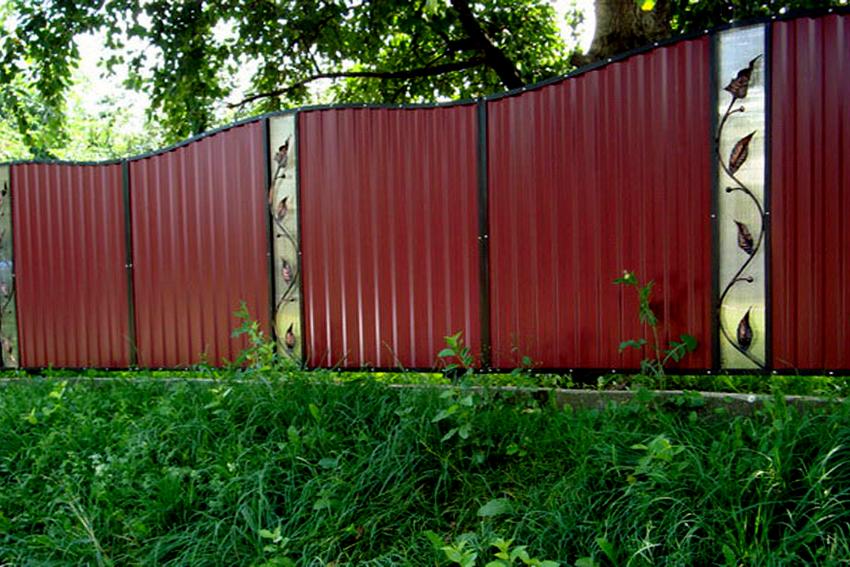 Забор дешево своими руками фото